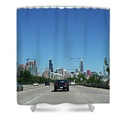 Heading North On Lake Shore Drive In Chicago Shower Curtain