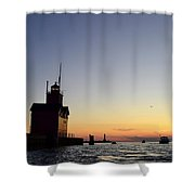 Heading Out Shower Curtain by Michelle Calkins