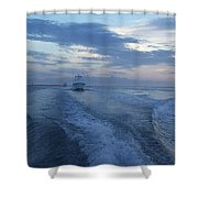 Heading Out To Sea Shower Curtain