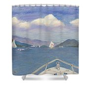 Heading To Dome Island Shower Curtain