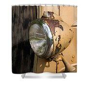 Headlamp Shower Curtain