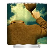 Headless Man With Bowler Hat Shower Curtain