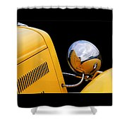 Headlight Reflections In A 32 Ford Deuce Coupe Shower Curtain