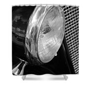 headlight205 BW Shower Curtain