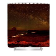 Headlights And Buttes In Monument Shower Curtain