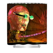 Headset 3 Shower Curtain