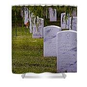 Headstones Of Arlington Cemetery Shower Curtain