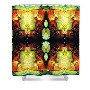 Healing Energy - Visionary Art By Sharon Cummings Shower Curtain by Sharon Cummings