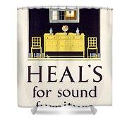 Heals Sound Furniture Advertisement Shower Curtain