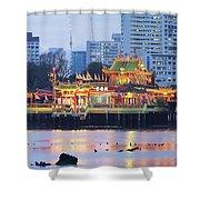 Hean Boo Thean Temple At Blue Hour Shower Curtain
