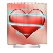 Hearbeat 1 Shower Curtain