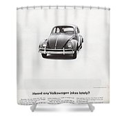 Heard Any Good Volkswagen Jokes Lately Shower Curtain by Georgia Fowler