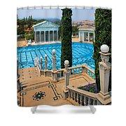 Hearst Castle Neptune Pool Shower Curtain
