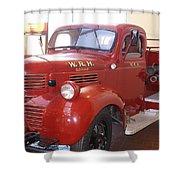 Hearst Fire Truck Shower Curtain