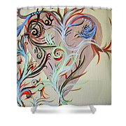 Heart # 124   Prints Available But Original Sold Shower Curtain