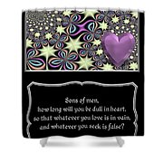 Heart And Love Design 14 With Bible Quote Shower Curtain