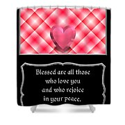 Heart And Love Design 15 With Bible Quote Shower Curtain
