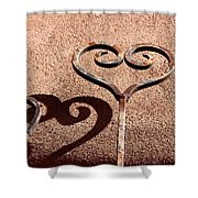 Heart And Shadow Shower Curtain