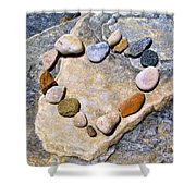 Heart And Stones  Shower Curtain