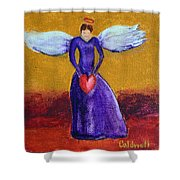 Heart Angel Shower Curtain