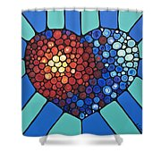 Heart Art - Love Conquers All 2  Shower Curtain
