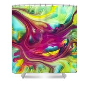 Heart Attack Watercolor Abstraction Painting Shower Curtain