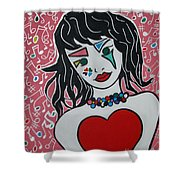 Heart Bit Shower Curtain