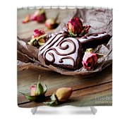 Heart Cookies Shower Curtain