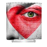 Heart Face Shower Curtain
