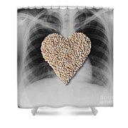 Heart Healthy Food Shower Curtain