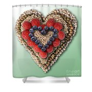 Heart-healthy Foods Shower Curtain