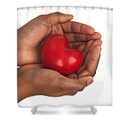 Heart In Hands Shower Curtain