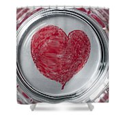Heart In Mug Abstract 1 B Shower Curtain