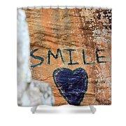 Heart In Sandstone Mountain Shower Curtain