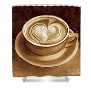 Heart Latte II Shower Curtain