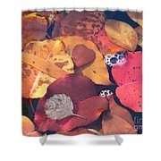 Heart Leaves Shower Curtain