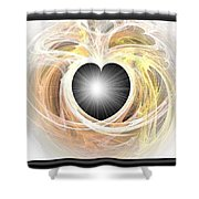 Heart N Soul Fractal Shower Curtain