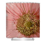 Heart Of A Daisy Shower Curtain