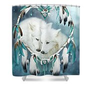 Heart Of A Wolf Shower Curtain