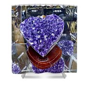 Heart Of Amethyst Shower Curtain