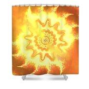 Heart Of Fire Shower Curtain