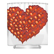 Heart Of Hearts Shower Curtain