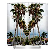 Heart Of Palms Shower Curtain