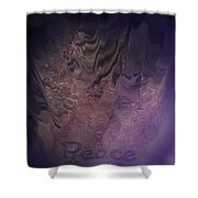 Heart Of Peace Shower Curtain