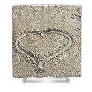 Heart Of Sand Shower Curtain