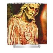 Heart Of The Savior Shower Curtain