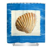 Heart Of The Sea Shower Curtain by Lourry Legarde