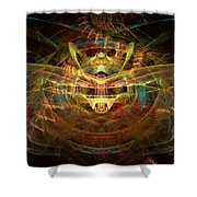 Heart Of The System Shower Curtain