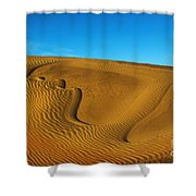 Heart In The Sand Dunes Shower Curtain