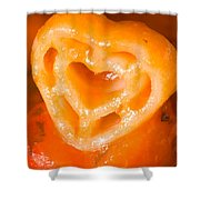 Heart Pasta With Tomato Sauce Shower Curtain